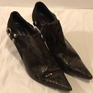 Donald J Pliner Couture western python booties 6.5
